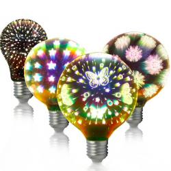 A60 G95 G125 4W E27 3D LED light bulb