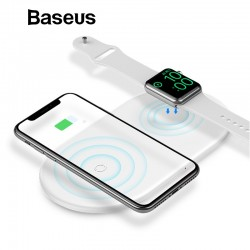 2 in 1 - Baseus 10W Fast wireless pad di ricarica per iPhone X - XS Max - XR Apple Watch 4/3/2 - Samsung S8 / S9