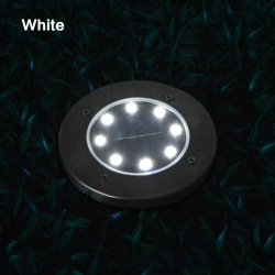 8 LED Buried floor - garden solar light with sensor waterproof