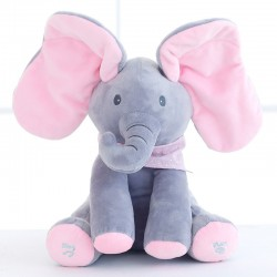 Elephant plush toy with sound