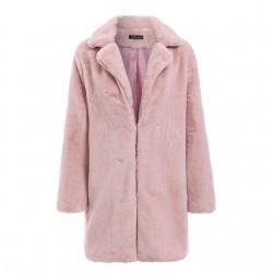 Elegant long fur plush teddy coat jacket