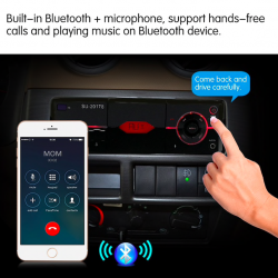 Bluetooth 1DIN car radio MP3 player AUX / USB / SD card & remote control & phone holder