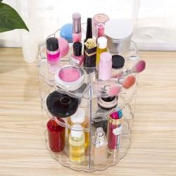 360 rotating detachable cosmetic makeup organizer