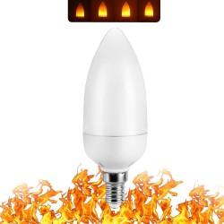 3W 5W 7W 9W E27 E26 E14 E12 85 - 265V Lampadina a LED con effetto fuoco a fiamma