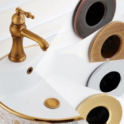 Bathroom sink round hole overflow cover