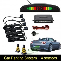 Car LED reverse parking sensor detector & backlight display
