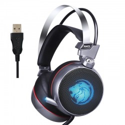 ZOP N43 stereo gaming headset cuffie con microfono e luce LED per PC