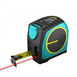 DT10 2-in-1 laser rangefinder with digital LCD display measuring tape