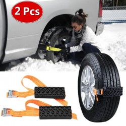 Emergency car tire anti-skid rubber chain 2 pieces
