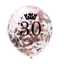Palloncini di latex compleanno anniversario 12 Inch 5pc