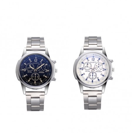 Analog quartz watch stainless steel
