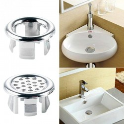 Bathroom sink overflow ring
