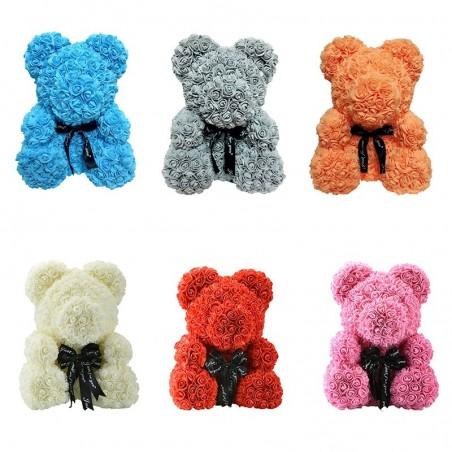 Infinity rose flower teddy bear 40 cm