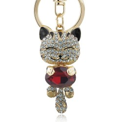 Crystal cat - keychain