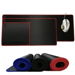 Large anti-slip mouse pad - gaming mat - rubber with lock-edge
