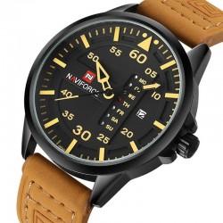 NAVIFORCE - leather band - quartz watch