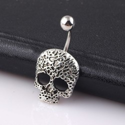 Skull - belly button ring - piercing