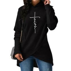 Warm hooded pullover hoodie