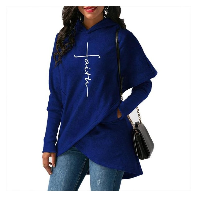 Warm hooded pullover