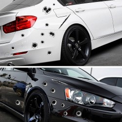 Bullet holes - 3D car sticker - waterproof - 21 * 30cm
