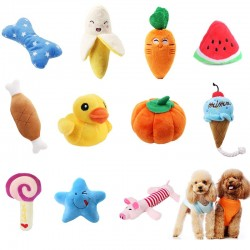 Squeaky plush toy for dog & cat