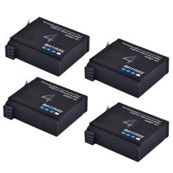 1680mAh AHDBT- 401 battery for GoPro Hero 4 Action Camera - 4 pcs