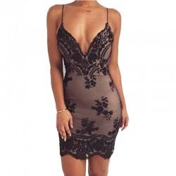 Sexy - sequin mini dress