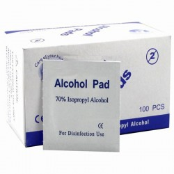 Alcohol swabs pads - antiseptic wipes 100 pcs
