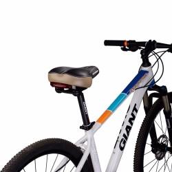 Bicycle saddle with warning light
