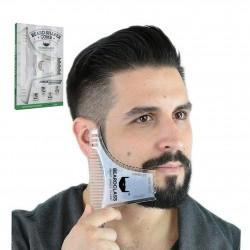 Modellatura della barba - modello stile barba con pettine