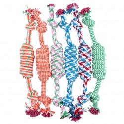 Cotton bone & rope - giocattolo per cani 27cm
