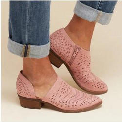 Hollow out - ankle boots