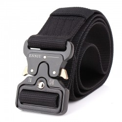 Military nylon belt with automatic buckle