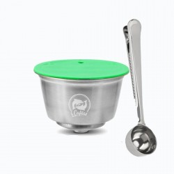 Stainless steel reusable capsule & spoon for Dolce Gusto Coffee Machine