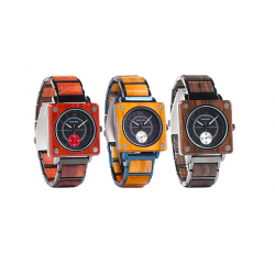 Sandalwood quartz modern watch