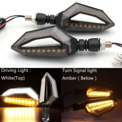 12 LED - universal fit motorcycle turn signal lights for Harley Cruiser Honda Kawasaki BMW Yamaha 2 pcs