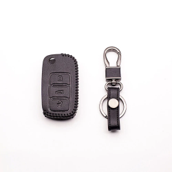 Car key cover leather case for Volkswagen