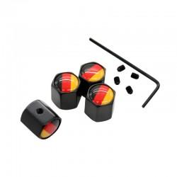 4 pzset germania bandiera logo antifurto valvola cappellini nero della rotella della gomma staminal