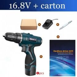 Cacciavite elettrico 16,8 V - trapano - set