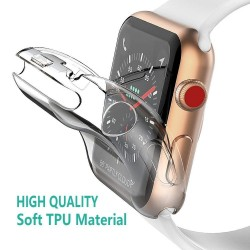 Estuche de protección ultradelgado de TPU HD para Apple Watch 1-2-3-4-5 - 38 mm - 40 mm - 42 mm - 44 mm