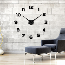 Orologio adesivo a muro 3D in acrilico