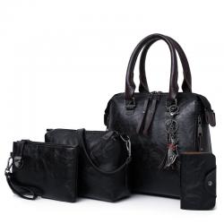 Set borse da donna in pelle con borsetta 4pcs