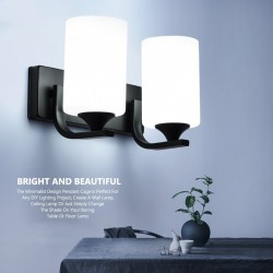 E27 LED base - wall lamp with single and double head