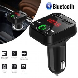 Bluetooth FM transmitter car audio player usb charger lcd display hands-free calls
