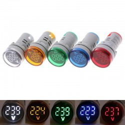 60-500V AC 22mm LED digital display - gauge voltage meter indicator