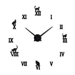 Orologio da parete adesivo 3D con animali