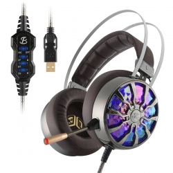 NiUB5 PC65 Incandescente Gaming Headset Bass stereo 3D Coinvolgente USB 71 Surround Sound Shock PS4