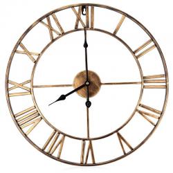 18.5 inch roman numerals iron decorative wall clock