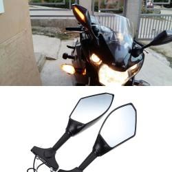 Evomosa Specchi Retrovisori Moto LED Indicatori di direzione Luci per Hyosung GT125R GT250R GT650R K
