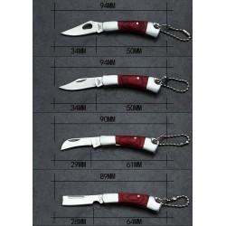 Mini foldable pocket knife with keychain